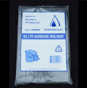 Bags Garbage Extra Heavy Duty 82L 200s