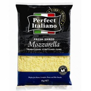 Mozzarella Cheese Shredded 2 X 6kg