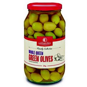 Olives Green Greek Whole 2kg 104305