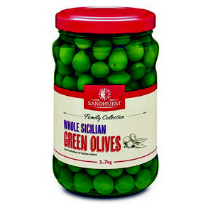 Olives Green Sicilian Whole 1.7kg 104633