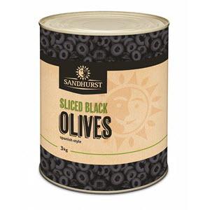 Olives Spanish Sliced Black 3kg 101018