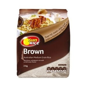 Rice Brown Medium Grain 2kg