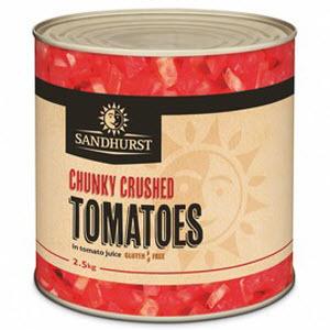 Tomatoes Chunky Crushed 6 X 2.5kg Italian 101549