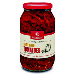 Tomatoes Semidried Glass Jar 2kg 101174