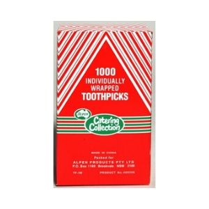 Toothpick Individually Wrapped 1,000s