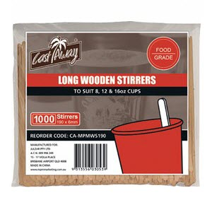 Wooden Coffee Long Stirrer 1,000s