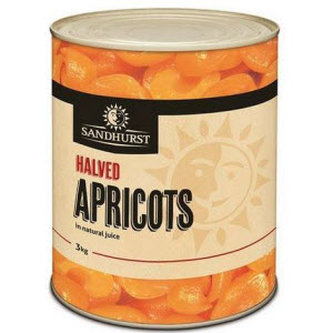 Apricot Halves 3 X A10 Natural Juice 109076