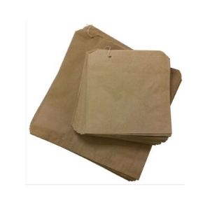 Bags Paper Brown 4F Strung 290 X 240mm 500s