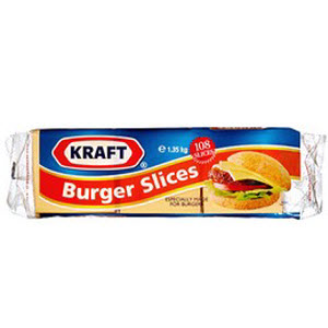 Burger Cheese Sliced 1.35kg 108's