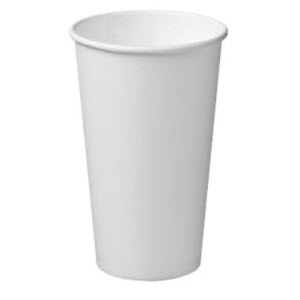 Cups Coffee Single Wall White 16oz 25s