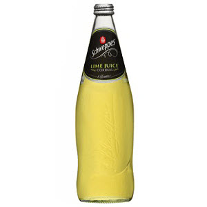 Lime Cordial Glass Bottle 750ml