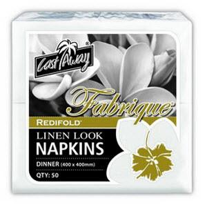 Napkins Linen Look Redifold