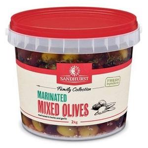Olives Mixed Marinated Whole 2kg 108404