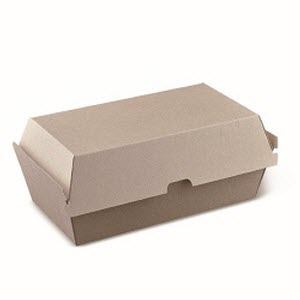 Snack Box Cardboard Large Brown 200s