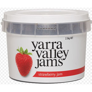 Strawberry Jam Plastic Tub 2.5kg