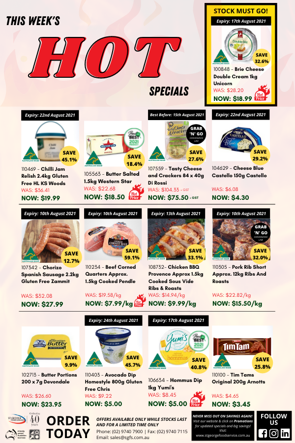 This week's HOT specials!